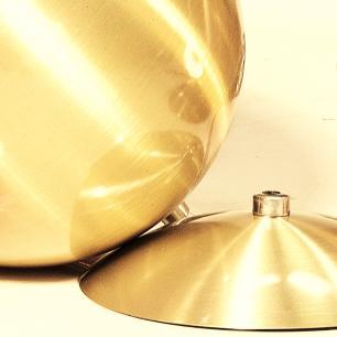Luminária Pendente Meia Bola Conflate Ouro de Alumínio - Soq: E27 / Tam: 25x19cm