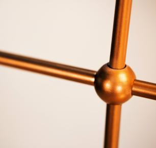 Luminária Sputnik Gun Industrial 6 hastes Assimetrico Soq: E27 | Cor: Cobre | Tam: 60cm | Mod: Sputnik Gun