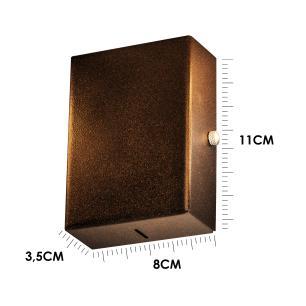 Balizador Arandela Spalte Aço Galvanizado Cor: Marrom Tam: 11x8cm Soq: G9 Mod: Flat