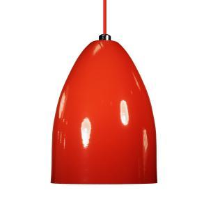 Luminária Pendente Cone de Alumínio Vermelho - Soq: E27 / Tam: 13x19cm