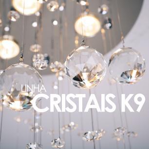 Lustre Pendente de Cristal Original K9 Com Lâmpadas |Tam: 160cm |GU10