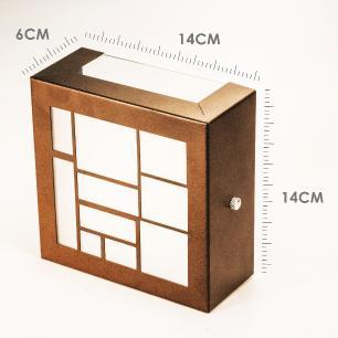 Arandela Externa Com Desenho e 2 Focos Tam: 14x14cm Cor: Cobre Soq: G9 Mod: Loy