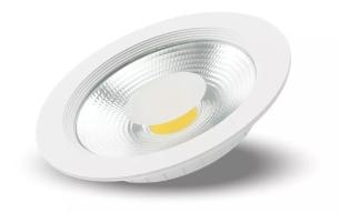 Luminária Spot De Embutir Downlight Led Cob 30w 2400 Lumens 22cm Branco Frio