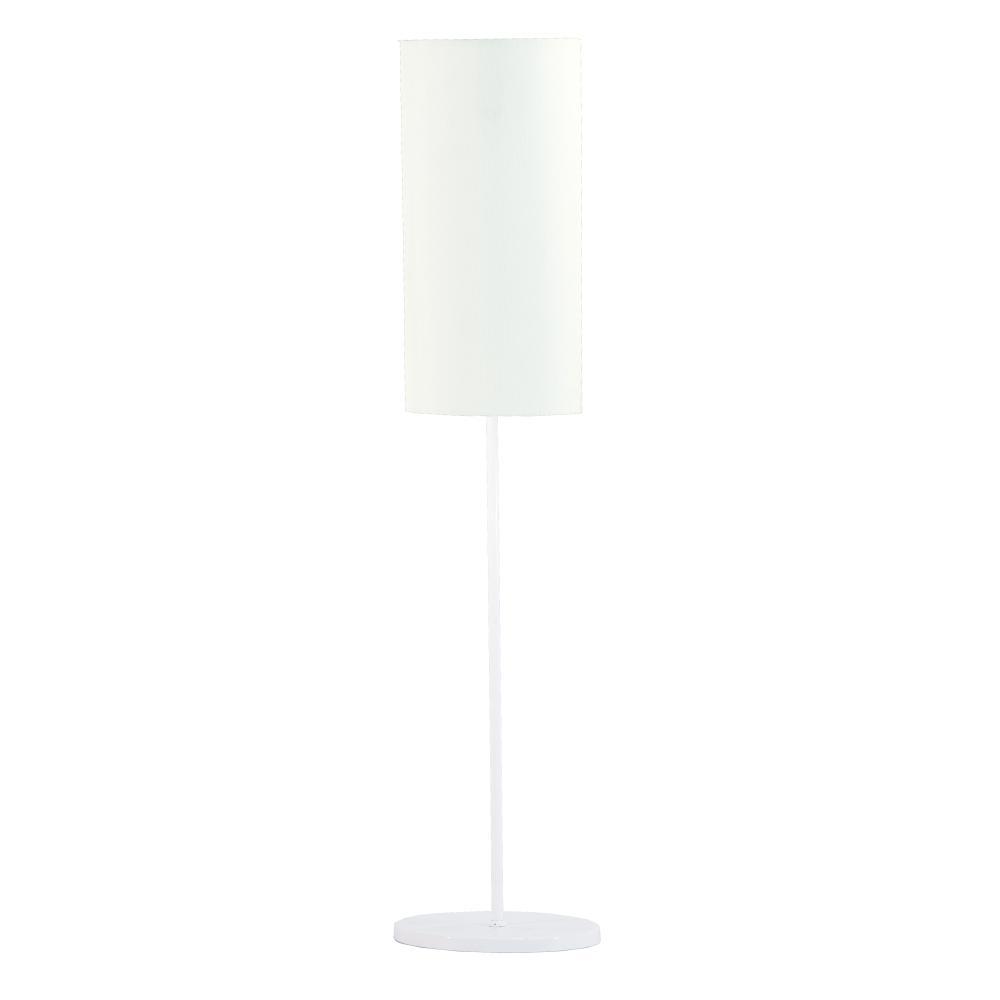 Abajur de Mesa Vela Classico Soq: E27 | Cor: Branco | Cúpula: Branca | Tam: 65cm | Mod: Vela