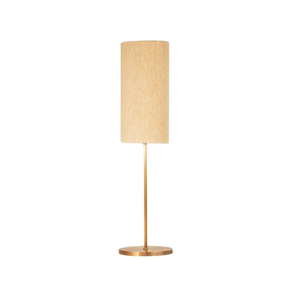 Abajur de Mesa Vela Classico Soq: E27 | Cor: Cobre | Cúpula: Bege | Tam: 65cm | Mod: Vela