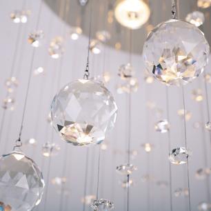 Lustre Pendente de Cristal Original K9 |Tam: 160cm |GU10