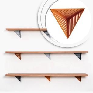 Prateleira de Madeira com Design Assimétrico | Mod: Assis| Cor: Preto