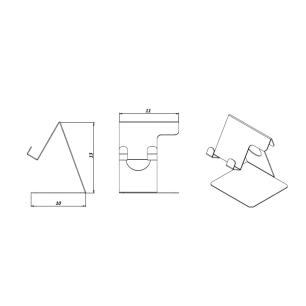 Acessório Para Celular Suporte Moderno Para Decoração| Mod: Coron  Plus | Cor: Branco