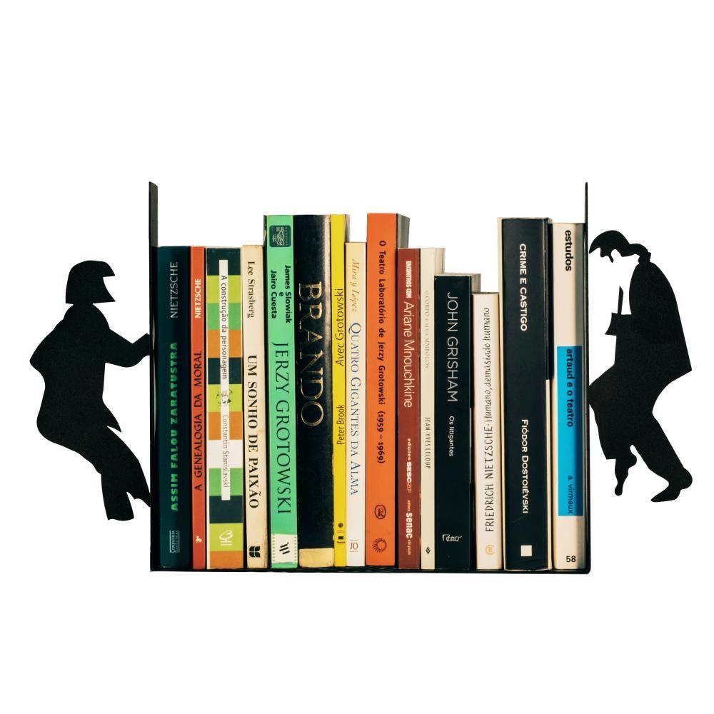 Suporte De Livros Para Bibliotecanto  | Mod : Pulp Fiction  | Cor: Preto