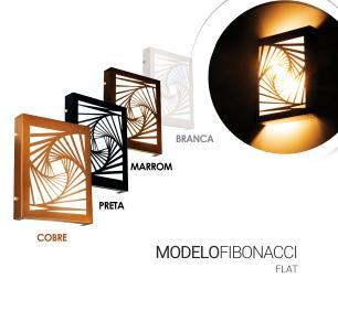Arandela Slim Externa Interna 2 Focos Flat Decor Cor: Branca Modelo: Fibonnaci