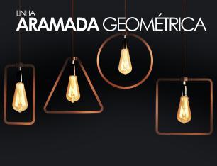 Lustre Conjunto Pendente Geometrico de Madeira na Barra Soq: E27 | Cor: Café | Mod: Geométrico