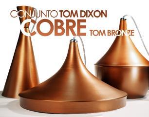 Conjunto Tom Dixon de Alumínio Cobre - Soq: E27