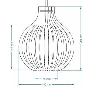 Pendente de madeira | 35x24cm | Marfim | Mod: Bali