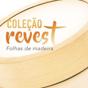 Luminária Plafon Sobrepor de Madeira Redondo Marfim 18W 5.000k