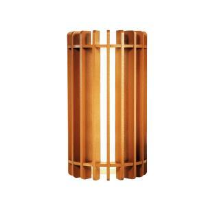 Arandela de Madeira Grega Caramelo com LED 420 Lúmens / Tam: 9x16cm / Luz: 5.000K