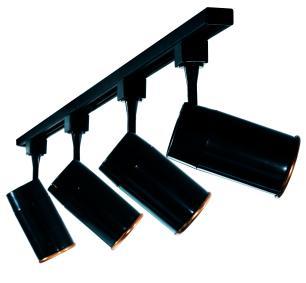 Trilho Eletrificado 3 m com 4 Spots Soq: GU10 | COR: Preto com Cobre | Spot: Led 7W 6.000k Branco Frio | Tam: 3 mt | Mod: Z4