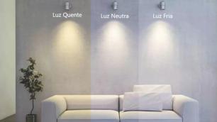 Luminária Plafon de Embutir 11x11cm Branco 6W Super Fino LED Branco Neutro