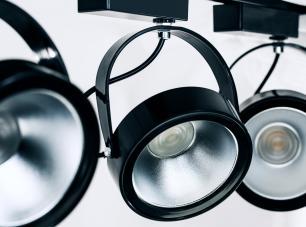 Kit Trilho Eletrificado Preto com Prata  1,5m + 4 Spot LED AR111 12W L3