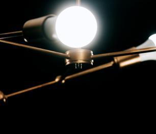 Luminária Sputnik Marden Industrial 6 hastes Assimetrico Soq: E27   Cor: Cobre   Tam: 30cm   Mod: Sputnik Marden