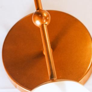 Arandela Buble Industrial Duplo Bola de Vidro Soq: G9   Cor: Branco   Tam: 38cm   Mod: Duplo Buble