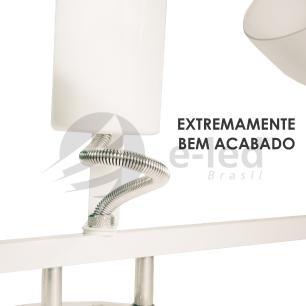 Trilho Triplo de Alumínio 3 Spots P/ PAR 20 Branco Soq: E27 / Tam: 60cm