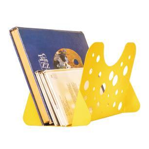 Revisteiro de Chão | Tam: 30x22x20 | Mat: Alumínio | Cor: Amarelo | Mod: Cheese