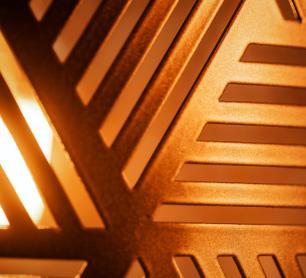 Lustre Pendente Retangular Para Sala Cúpula Vazada | Tam: 40x21cm | Cor: Cobre | Mod: Cúpula Egípcia