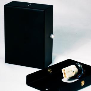 Balizador Arandela Spalte Aço Galvanizado Cor: Preto Tam: 11x8cm Soq: G9 Mod: Flat