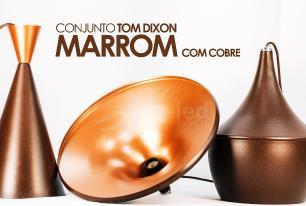 Conjunto Tom Dixon de Alumínio Marrom com Cobre