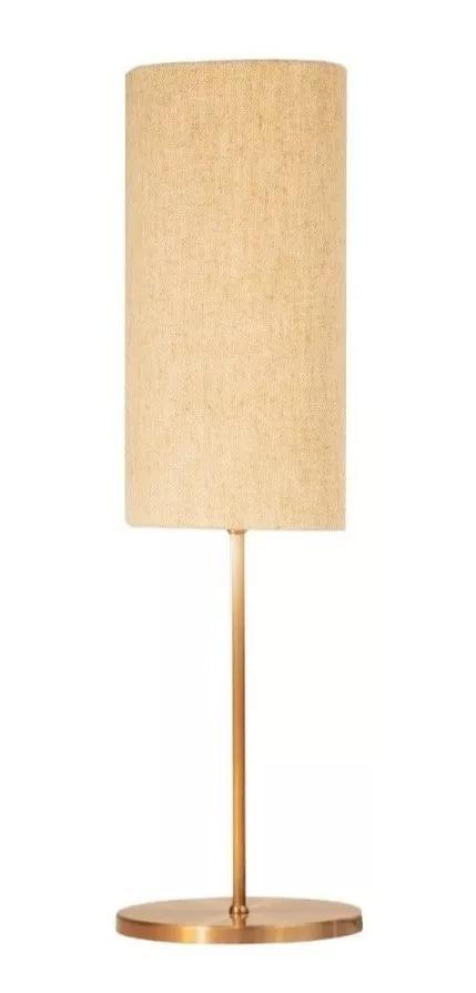 Abajur de Mesa Vela P Classico Soq: E27 | Cor: Cobre | Cúpula: Bege | Tam: 42cm | Mod: Vela P