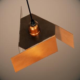 Luminária Pendente com Design Abstrato Cobre Mod: Tábor | Soq: E27