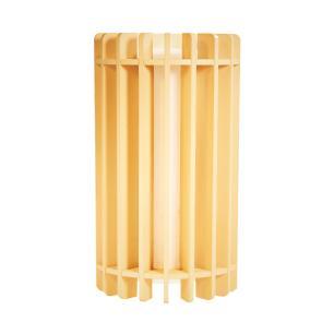 Arandela de Madeira Grega Marfim com LED 420 Lúmens / Tam: 9x16cm / Luz: 2.700K