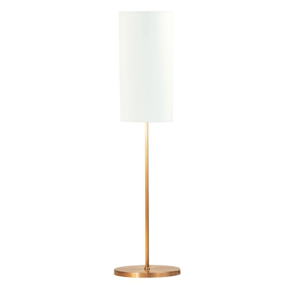Abajur de Mesa Vela Classico Soq: E27   Cor: Cobre   Cúpula: Branco   Tam: 65cm   Mod: Vela