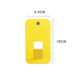 Mini Cabideiro Moderno Gancho | Cor: Amarelo | Tam: 10x5,5cm | Mod: Cabideiro Ultra Slim