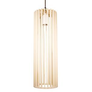 Luminária Pendente Angelico Marfim de Madeira - Soq: E27 / Tam: 11x37cm