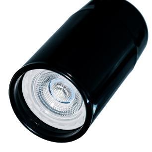 Trilho Eletrificado 1 M com 5 Spots Preto Soq: GU10   Cor: Preto   Spot: Led 10W 2.700K Branco Quente  Tam: 1 MT   Mod: Z3