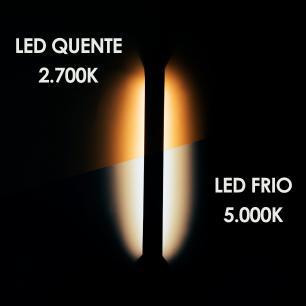 Arandela Slim Branco c/ LED   Temp: 6000K Branco Frio   Tam: 30x3,5cm   Mod: Fit