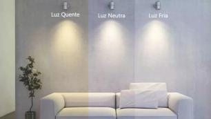 Luminária Plafon de Embutir 16x16cm Branco 12W Super Fino LED Branco Frio