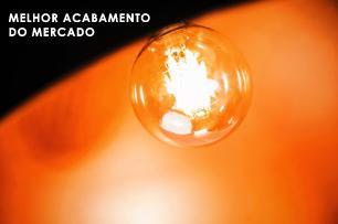 Lustre Pendente Meia Lua Preta com Cobre de Alumínio - Soq: E27 / Tam: 60x30cm