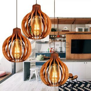 Pendente de madeira | 35x24cm | Chocolate | Mod: Bali
