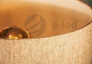 Abajur de Mesa Aramado Diamante Grande Cobre com cúpula Amarela