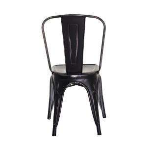 Cadeira Tolix Iron Design Preto Vintage