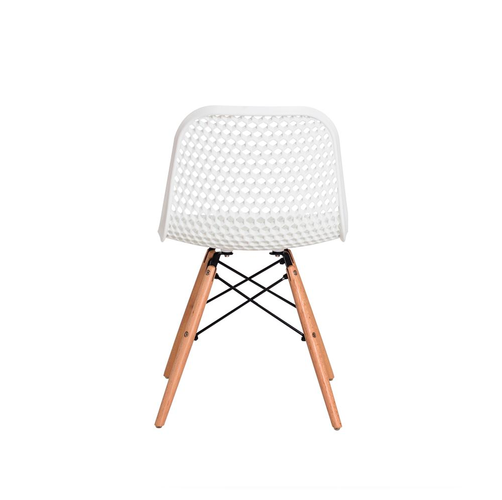 Kit 4 Cadeiras Colméia Eloisa Branca Sala Cozinha Jantar