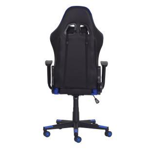 Cadeira Gamer Ben Reclinável 180º Giratória Preta Com Azul Altura Ajustável