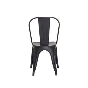 Cadeira Tolix Iron Design Preto Fosco Aço Industrial Sala Cozinha Jantar Bar