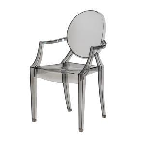 Kit 2 Cadeiras Louis Ghost Preto Translúcido