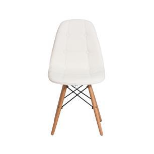 Kit 3 Cadeiras Eiffel Botonê Eames Dsw Branca Base Madeira Sala Cozinha Jantar