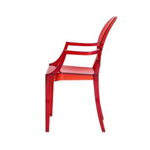 Kit 4 Cadeiras Louis Ghost Vermelho Translúcido