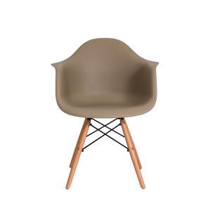 Cadeira Eiffel Eames Daw C/braço Nude Base Madeira