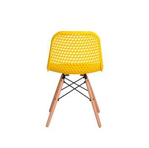 Cadeira Colméia Eloisa Amarela Sala Cozinha Jantar